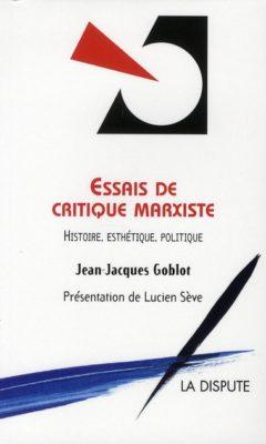 Essais de critique marxiste